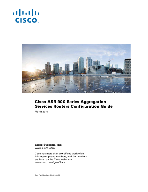 PDF) Cisco ASR 900 Series Aggregation Services Routers Configuration