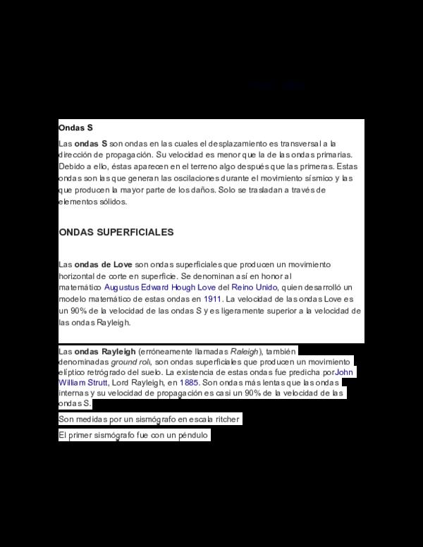 Doc Terremotos Lilian Danae Lopez Vazquez Academia Edu