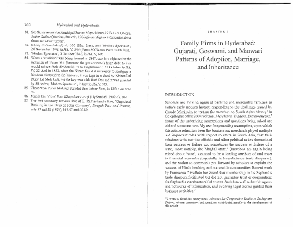 PDF) Family Firms in Hyderabad: Gujarati, Goswami, and