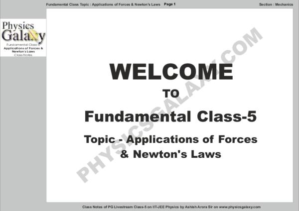 PDF) Fundamental Class - 5 by Ashish Arora Notes pdf