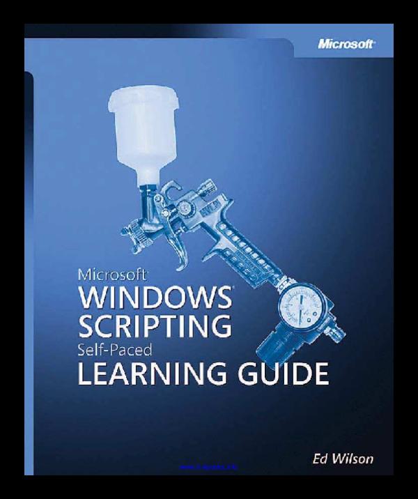 PDF) Microsoft Windows Scripting Self-Paced Learning Guide