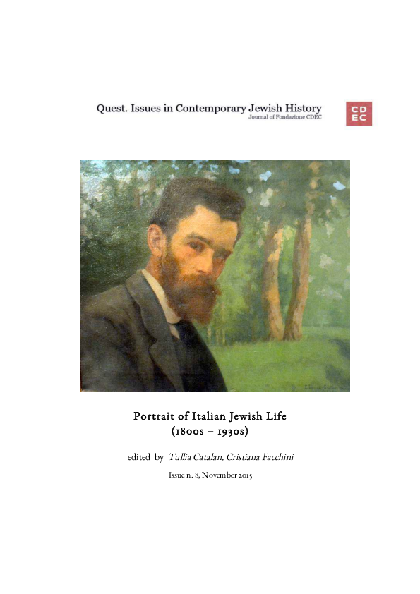 Portrait Of Italian Jewish Life 1800s 1930s Quest Issues In
