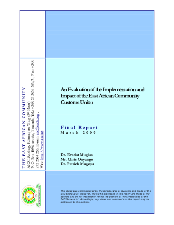 e0917e8233d7 PDF) An Evaluation of the Implementation and Impact of the East ...