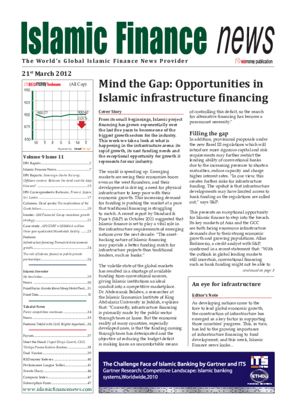 PDF) Mind the Gap: Opportunities in Islamic Infrastructure