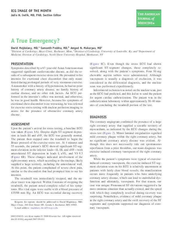 PDF) A True Emergency? | Sumanth Prabhu - Academia edu