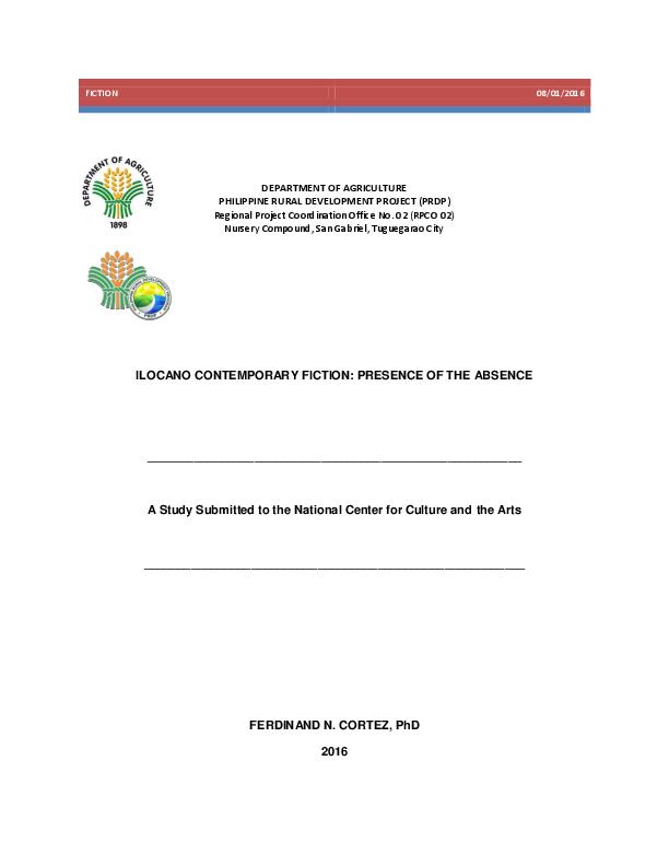 PDF) ILOCANO CONTEMPORARY FICTION: PRESENCE OF THE ABSENCE A Study