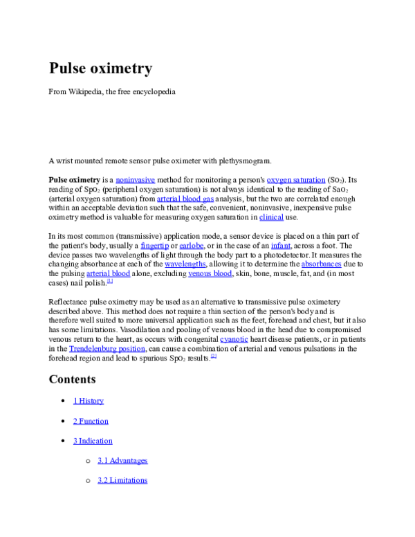 DOC) Pulse oximetry | sakshi varshney - Academia edu