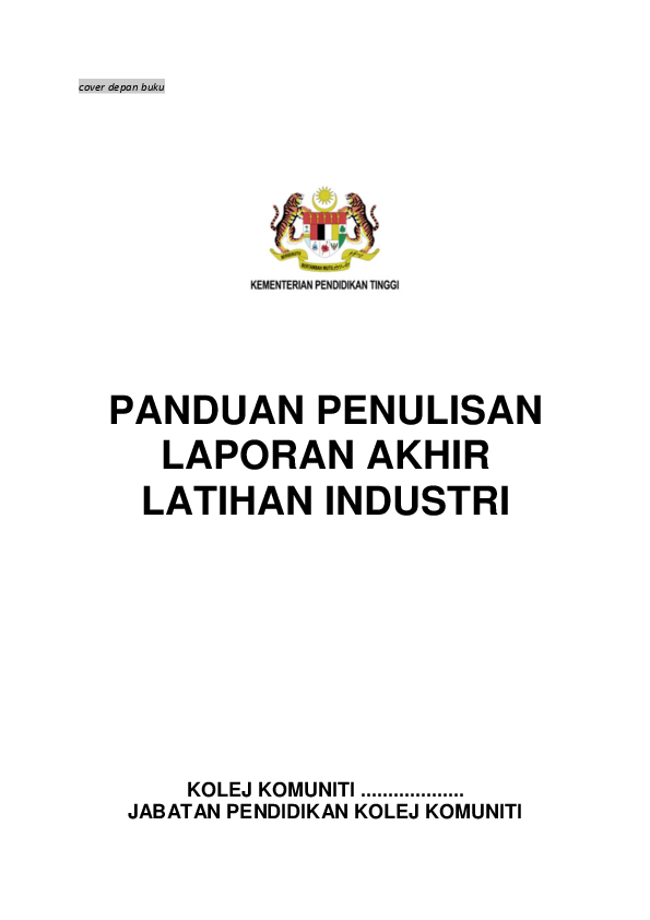 Pdf Reference For Li Internship Final Report Panduan Penulisan Laporan Akhir Latihan Industri Chichie Fadziera Academia Edu