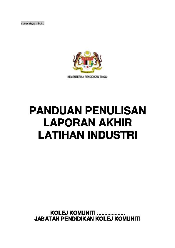 Contoh Laporan Latihan Industri Kolej Vokasional Kumpulan Contoh Laporan