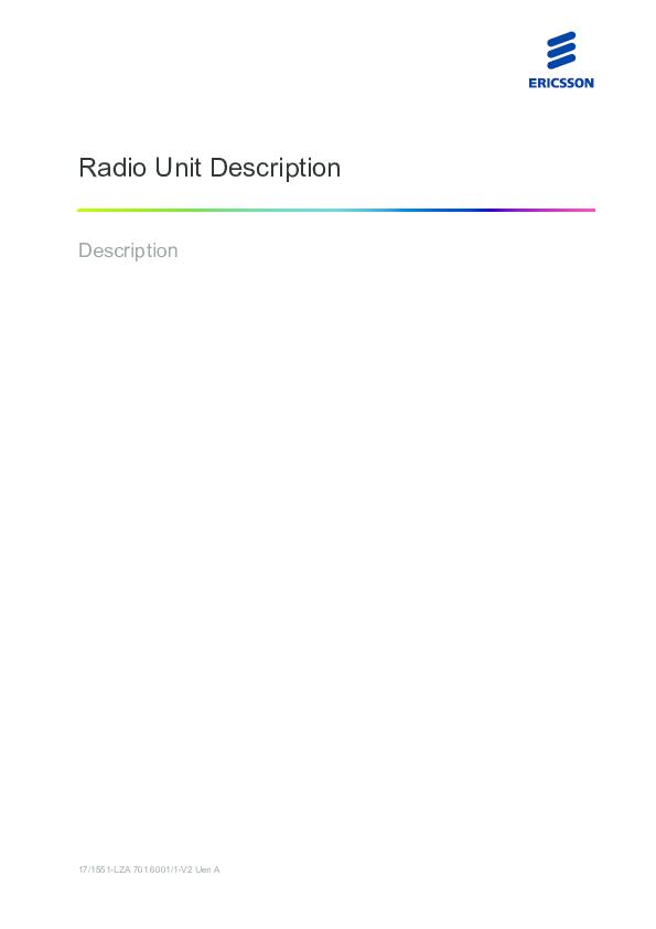 PDF) Radio Units Description ALL RRUs   Syed Adnan Ahmad