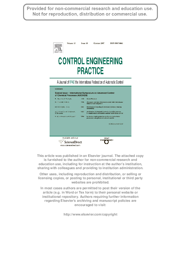 PDF) Application of plantwide control to the HDA process  I