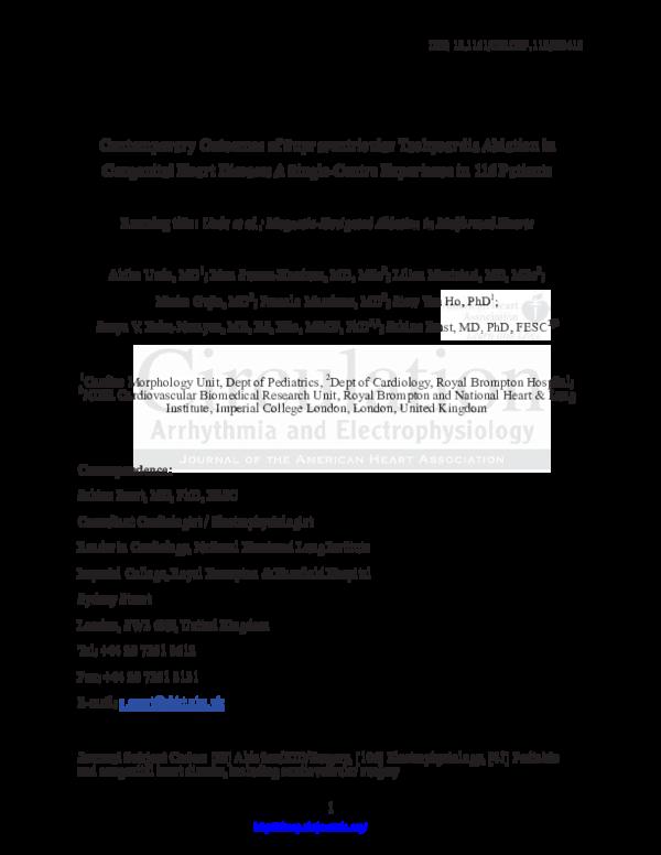 PDF) Contemporary Outcomes of Supraventricular Tachycardia