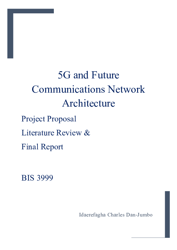 PDF) 5G and Future Communications Network Architecture | Dan