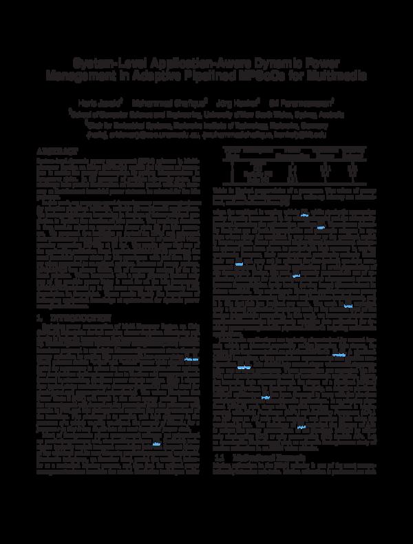 PDF) System-level application-aware dynamic power management