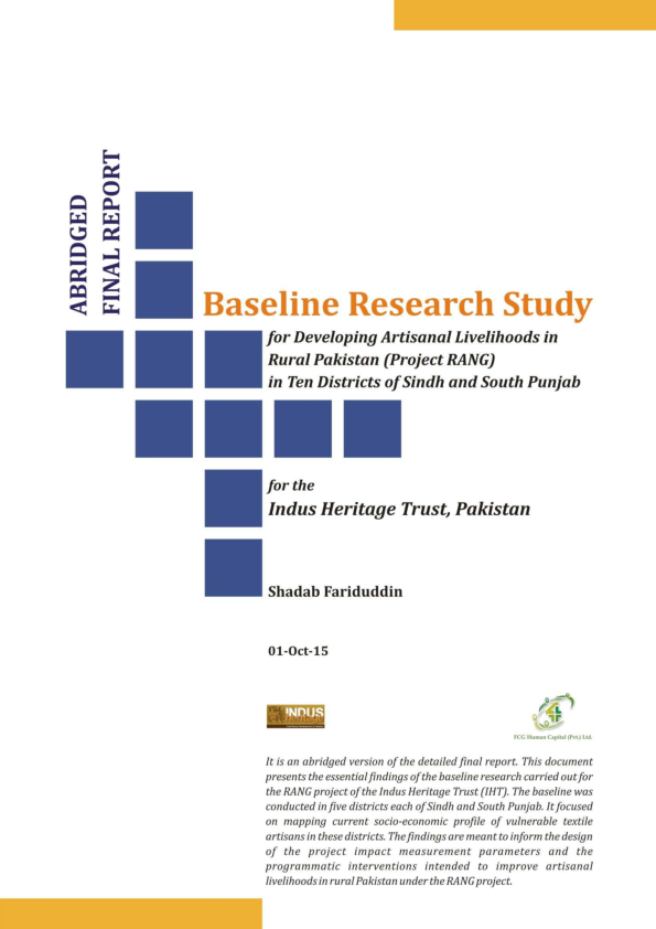 PDF) Value Chain Baseline Research on Livelihood of Textile