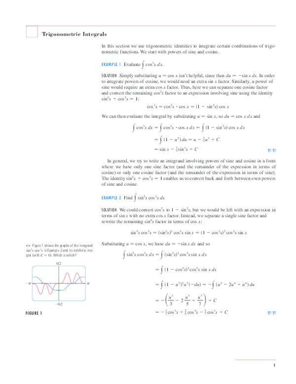 PDF) Trigonometric Integrals | Jerome Delen - Academia edu