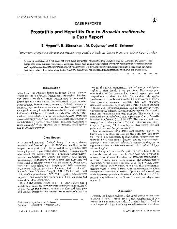 A prostatitisben van egy sérülés