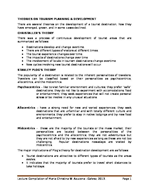 tourism planning process