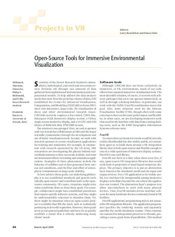 PDF) Open-Source Tools for Immersive Environmental