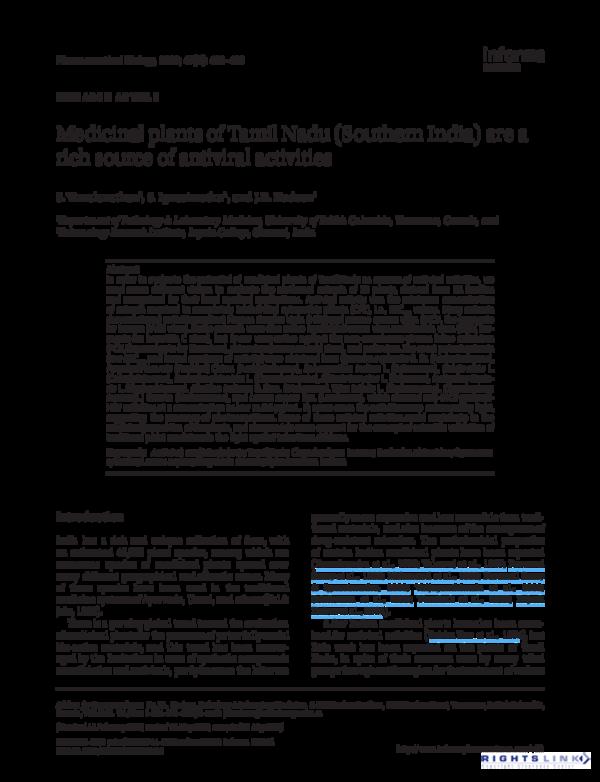PDF) Medicinal plants of Tamil Nadu ( | Savarimuthu Ignacimuthu and