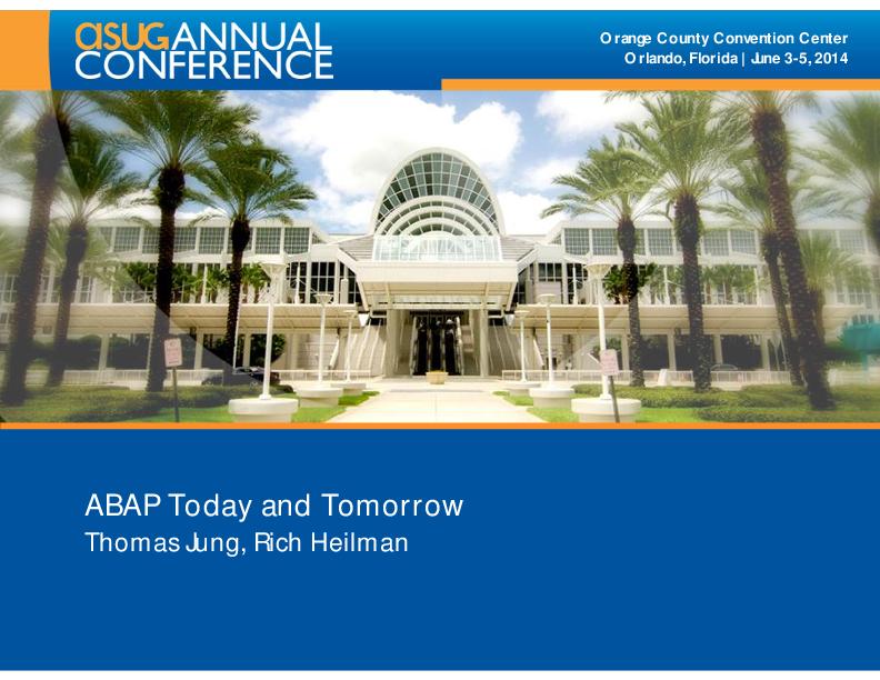 PDF) ABAP Today and Tomorrow | Nishith Sharma - Academia edu
