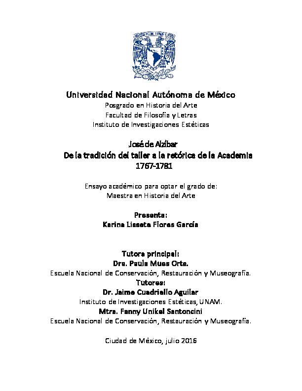 PDF) Jos de Alzbar. De la tradicin del taller a la retrica de ...