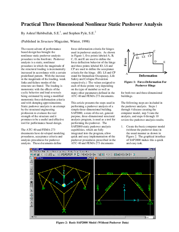PDF) Practical Three Dimensional Nonlinear Static Pushover Analysis