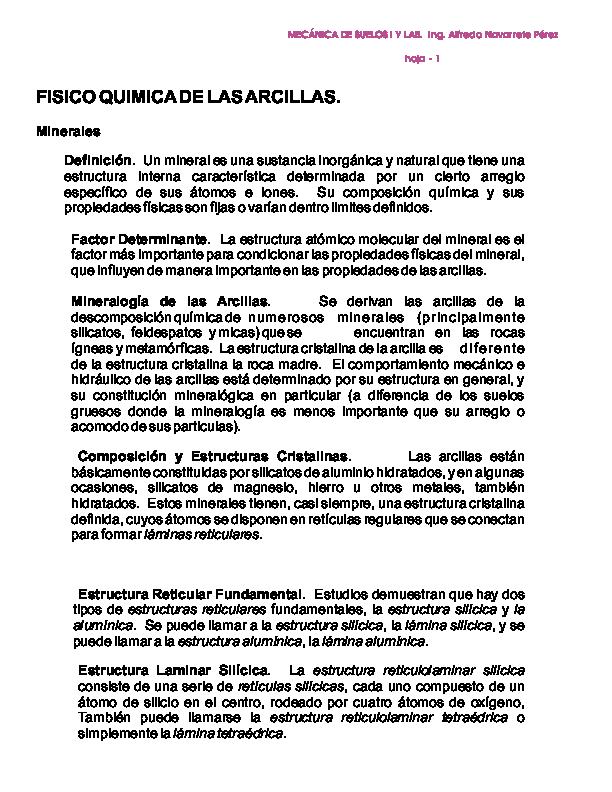 Pdf Fisico Quimica De Las Arcillas Charlie Martinez