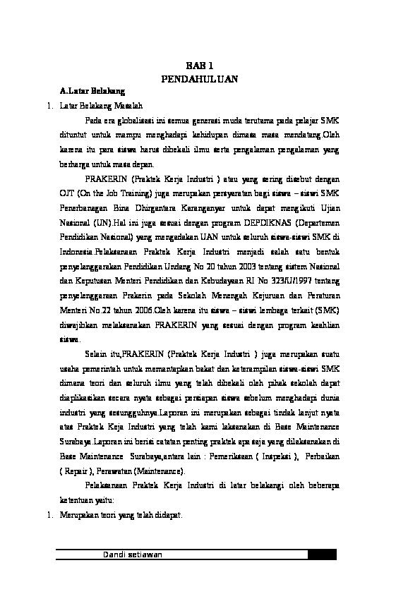 Doc Laporan Pkl Lion Air Instrument Dandi Setiawan Academia Edu