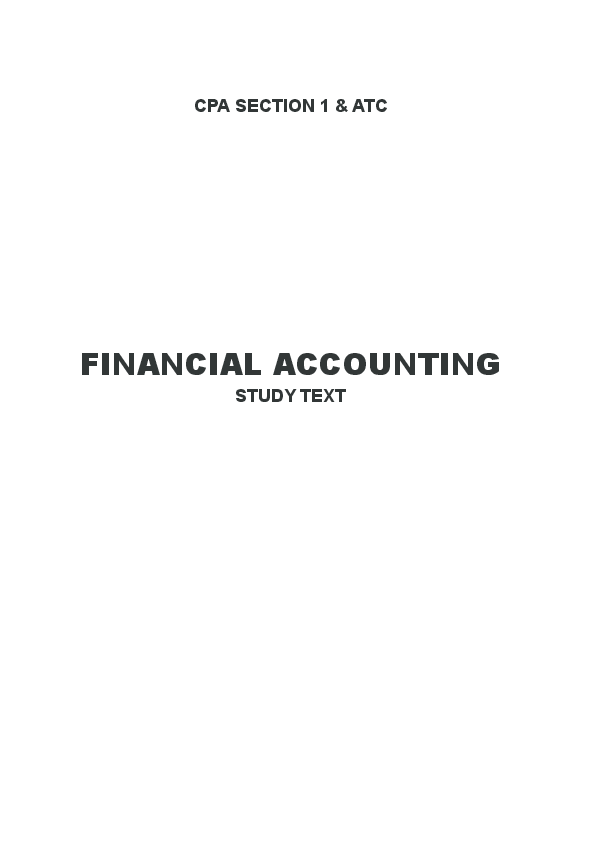 PDF) FINANCIAL ACCOUNTING STUDY TEXT CPA SECTION 1 | ZAIBA OFFICIAL