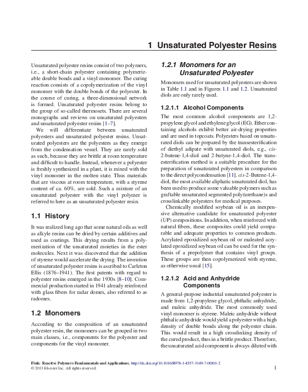 PDF) Unsaturated Polyester Resins | Alaz Tetik - Academia edu