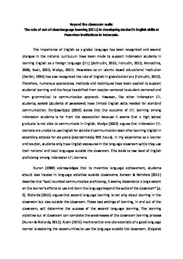teaching english experience essay
