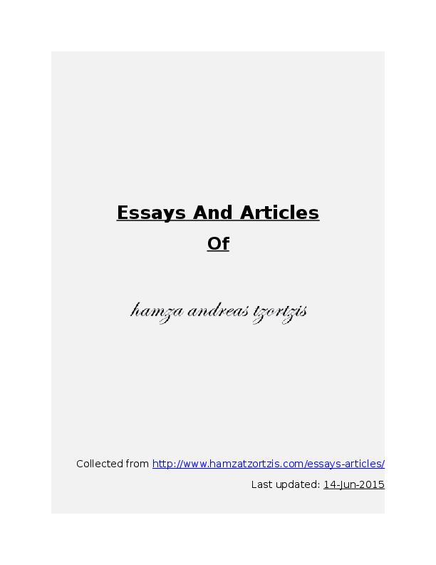 hamza tzortzis essay