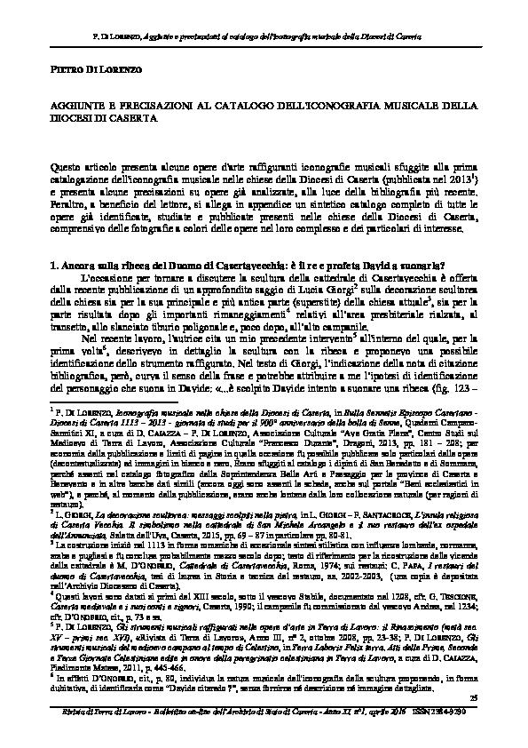 Pdf aggiunte e precisazioni al catalogo dell 39 iconografia for Progress caserta catalogo