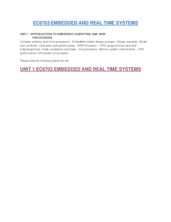 Pdf Ec6703 Embedded And Real Time Systems Rmesh M Academia Edu
