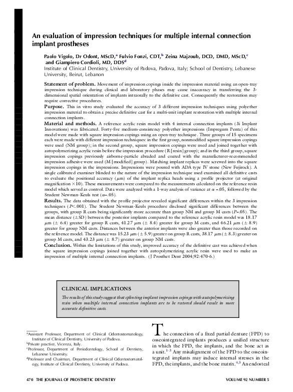 PDF) An evaluation of impression techniques for multiple
