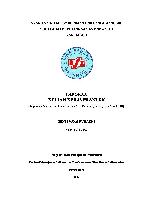 Doc Laporan Kuliah Kerja Praktek Farah Nuraeni Academia Edu