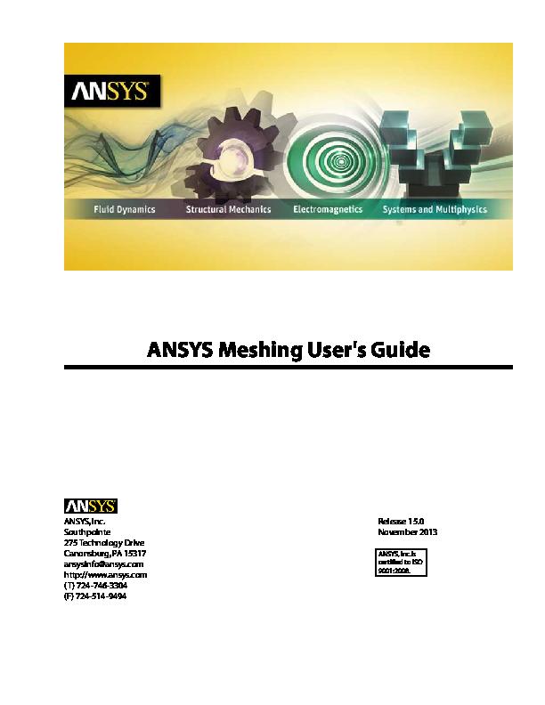 PDF) ANSYS Meshing User's Guide   sameer vyas - Academia edu