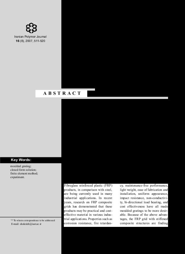 PDF) Analysis of fiberglass reinforced plastic molded