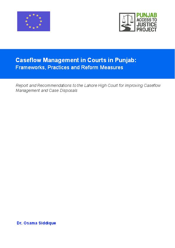 PDF) Caseflow Management in Courts in Punjab - Frameworks