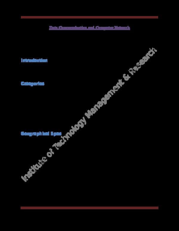 DOC) Data Communication and Computer Network   awanish kumar