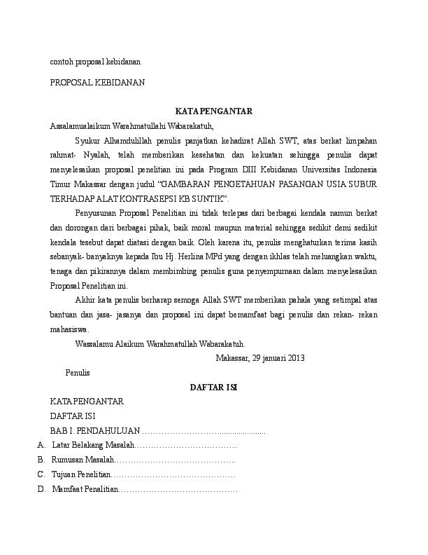 Doc Contoh Proposal Kebidanan Metode Penelitian Maya Putri Academia Edu