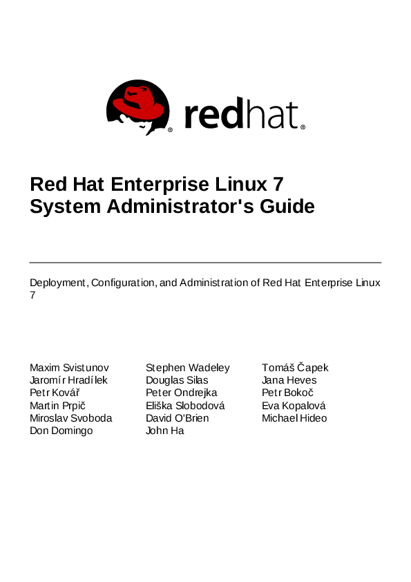 PDF) Red Hat Enterprise Linux 7 System Administrator's Guide