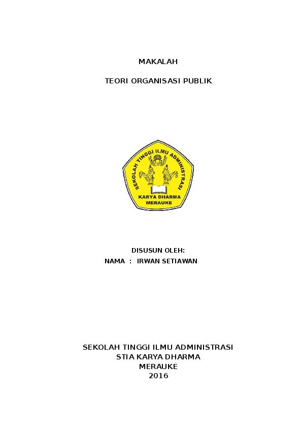 Doc Makalah Organisasi Publik Muhamad Enouy Academia Edu