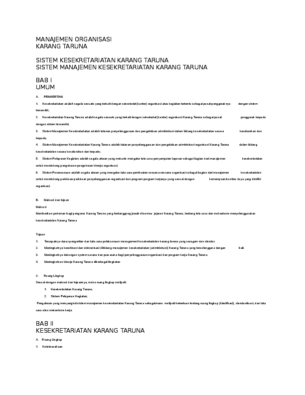 Doc Makalah Penelitian Organisasi Sosial Karang Taruna Marlina Diansari Academia Edu