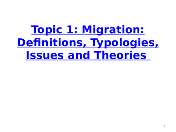 (PPT) Topic 1 Migration Definitions typology | Sumon Saha ...