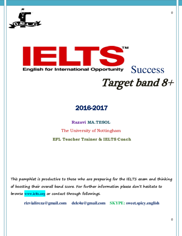 PDF) IELTS success brochure 2017 | alireza rizvi - Academia edu