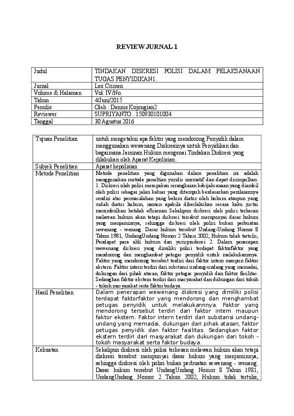Contoh Review Skripsi Contoh Soal Dan Materi Pelajaran 2