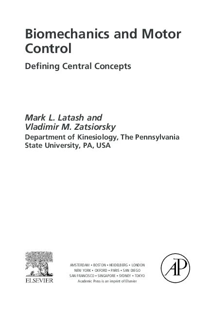 approaches to the study of motor control and learning summers j j