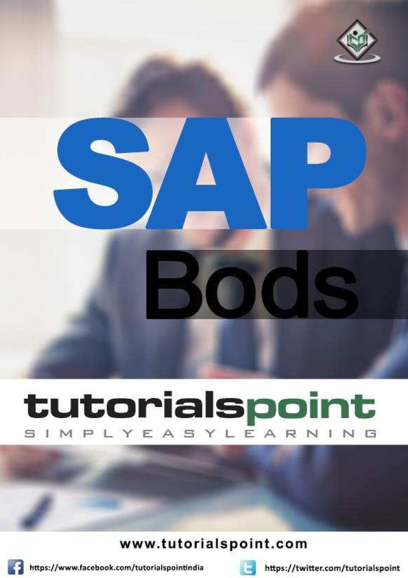 PDF) Sap bods tutorial | Ovidiu-Costinel Danciu - Academia edu